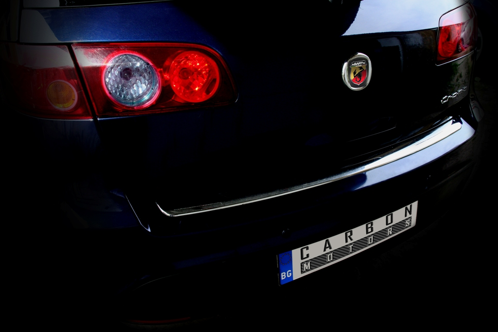 Fiat Croma by Carbon Motors rear view with abarth badge